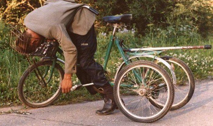Betrunken Fahrrad