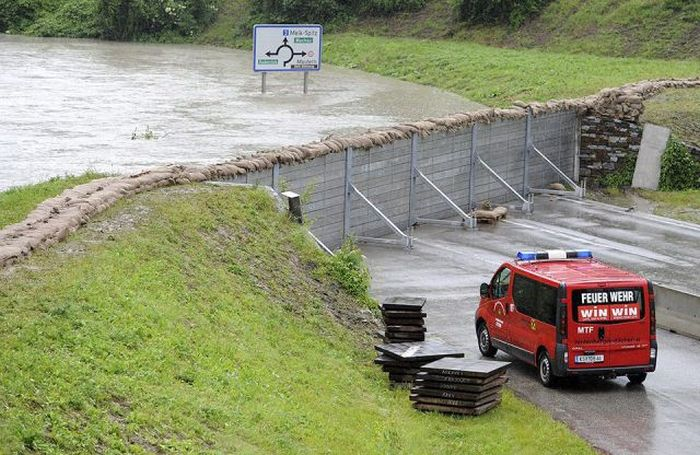 Floods inundating central Europe